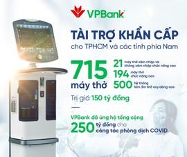 VPBank hỗ trợ gấp 715 máy hỗ trợ hô hấp cho TP.HCM và các tỉnh phía Nam