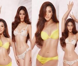 Hoa hậu Khánh Vân gửi tặng khán giả bộ ảnh bikini nóng bỏng