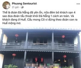 """Bị phạt vì đăng facebook đưa du khách """"tẩu thoát"""" khỏi Đà Nẵng"""