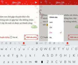 Cách gửi tin nhắn chúc Tết bằng Laban Key