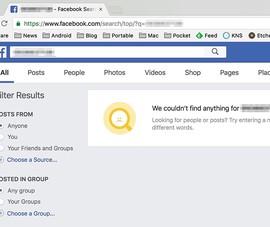 Facebook tắt tính năng tìm kiếm bằng số điện thoại