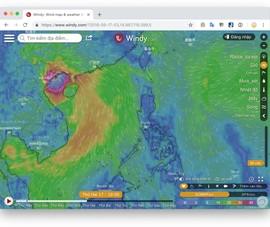 Cách theo dõi đường đi của siêu bão Mangkhut