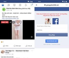 Mất tài khoản Facebook vì xem video khiêu dâm