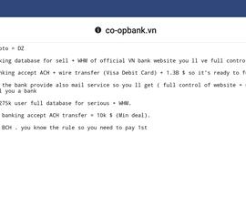 Co-opBank bị tin tặc đòi 2,3 tỉ đồng tiền chuộc?