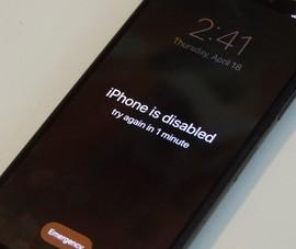 3 cách xử lý khi iPhone bị vô hiệu hóa