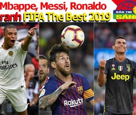 Mbappe tranh giải FIFA The Best 2019 với Messi và Ronaldo