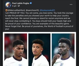 Pogba đả kích nạn phân biệt chủng tộc nhắm vào các đồng đội MU