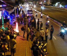 Phạt hàng loạt quán nhậu xuyên đêm trên đường Phạm Văn Đồng