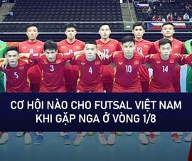 Video: Cơ hội nào cho đội tuyển Futsal Việt Nam khi gặp Nga ở vòng 1/8