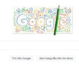 Ngày tựu trường được hiển thị trên Google Doodle