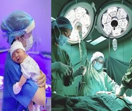 Bình yên ngắm bức ảnh của nữ hộ sinh Bệnh viện ĐH Y Dược