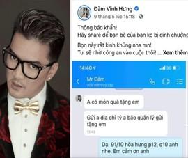 Ca sĩ Đàm Vĩnh Hưng bị mạo danh lừa bán đồ hiệu làm từ thiện