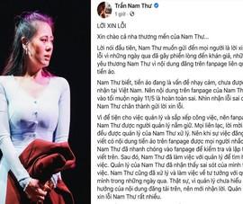 Nam Thư xin lỗi vì fanpage Trần Nam Thư quảng cáo tiền ảo