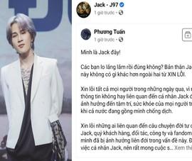 Jack xin lỗi người hâm mộ và mong muốn thực hiện nghĩa vụ làm cha