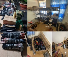 Phát hiện kho chứa 1.226 dao kiếm, súng điện… ở Tân Bình