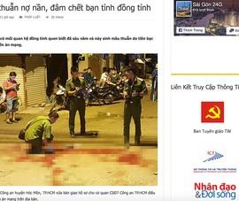 Trang 'Sài Gòn 24G' lấy tin trái phép của Pháp Luật TP.HCM