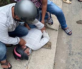 2 thanh niên giật điện thoại bị ngã khi tẩu thoát