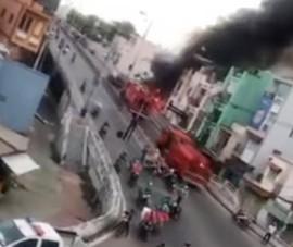 Cháy khu nhà dưới chân cầu Chánh Hưng ở quận 8