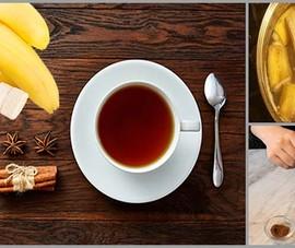 Thức uống trà chuối quế giúp ngủ ngon hàng đêm