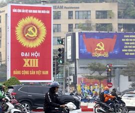 Chùm ảnh: Hà Nội rực rỡ cờ hoa chào mừng Đại hội XIII của Đảng