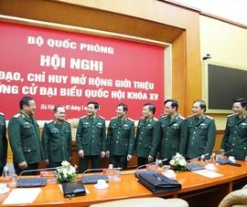 Bộ Quốc phòng giới thiệu 2 Thứ trưởng ứng cử ĐBQH khóa XV