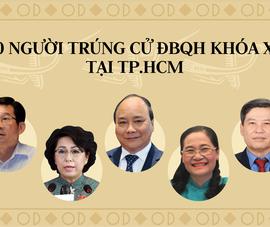 Danh sách 30 người trúng cử ĐBQH khóa XV tại TP.HCM
