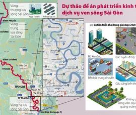 Toàn cảnh trên cao: Phát triển kinh tế, dịch vụ dọc 2 bờ sông Sài Gòn