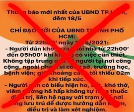 Chủ tịch TP.HCM chỉ đạo xử nghiêm người tung tin giả về dịch
