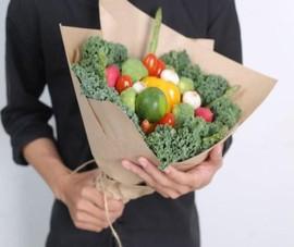 Bó hoa rau ăn được gây sốt ngày Quốc tế phụ nữ 8-3