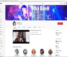 Kênh Youtube của Khá 'bảnh' đã bị khóa