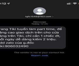 Lại rộ tin nhắn lừa đảo tuyển dụng việc nhẹ lương cao