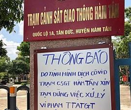 CSGT Bình Thuận dừng xử lý vi phạm với người từ TPHCM