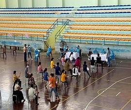 Thông báo khẩn liên quan điểm tiêm vaccine Nhà thi đấu thể thao Bình Thuận