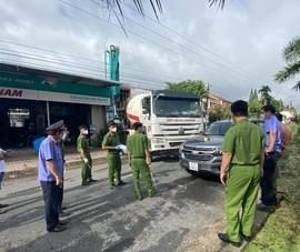 Dựng hiện trường vụ dùng ô tô chặn xe đi đổ bê tông ở Bình Thuận