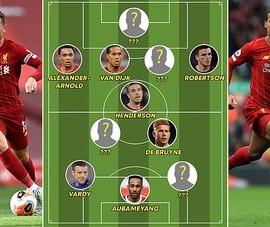 MU vắng bóng, Liverpool thống trị đội hình xuất sắc nhất năm
