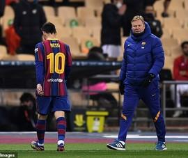 Koeman nói gì về chiếc thẻ đỏ của Messi?