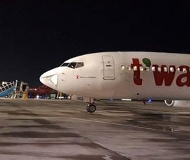 Báo cáo sự cố máy bay móp đầu đi, đến sân bay Tân Sơn Nhất