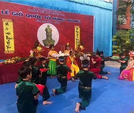 Nhiều trường học tổ chức trang trọng lễ Giỗ tổ Hùng Vương