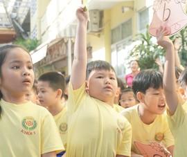 Học sinh lớp 1 hào hứng với ngày hội 'Một thoáng quê hương'