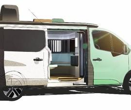 Ý tưởng 'biến' xe van cắm trại thành khách sạn nghỉ dưỡng 5 sao