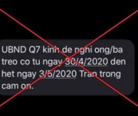"""Phạt người đăng tin UBND quận 7 đề nghị người dân """"treo co"""""""