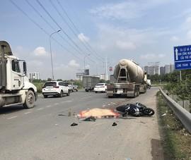 Quận 9: Xe bồn ôm cua cán chết người đi xe máy