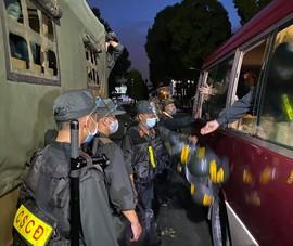 300 Cảnh sát cơ động Tây Nguyên vào TP.HCM triển khai nhiệm vụ ngay trong đêm
