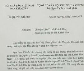 Xác định nhóm người hành hung 2 PV báo Khánh Hòa