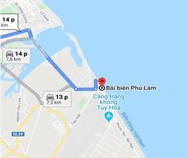 Google Maps sửa thông tin ghi sai về bãi biển Phú Lâm