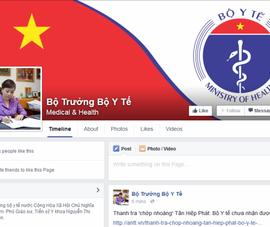 Bộ trưởng Bộ Y tế lập facebook để lắng nghe dân