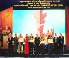 Tôn vinh 8 'Công dân Đồng Khởi', 'Công dân Đồng Khởi danh dự'