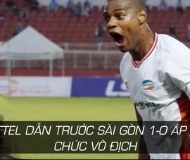 Bruno ghi bàn hiệp 1, Viettel áp sát chức vô địch