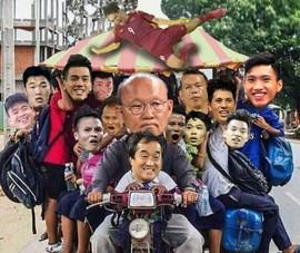 Chết cười với ảnh chế ông Park thồ đám học trò trên xe máy