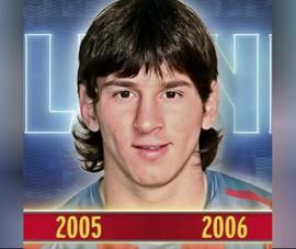 Barcelona làm chân dung Messi từ 2005 đến 2021